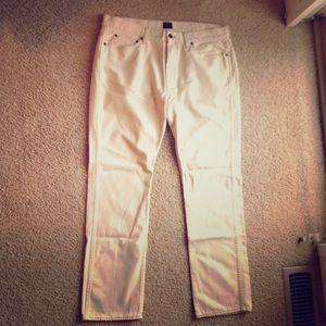 J. Crew Factory Sutton Fit White Jeans